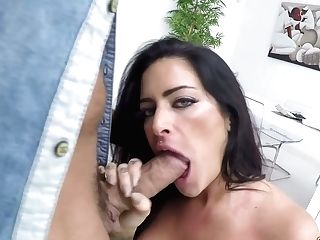 Tattooed Spanish Cougar Raquel Adan Gives A Tit Fucking And Gets...