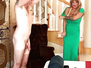 Buxom Blonde Cougar Alyssa Lynn Slide Her Naked Figure On Her...