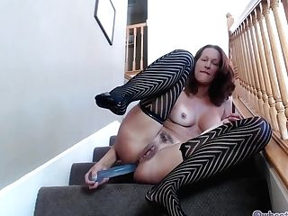 Dual Intrusion On The Stairs Hot Phat Ass Milky Girl Cougar Jess Ryan