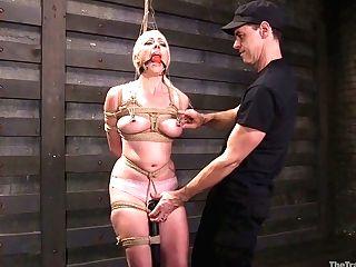Big Tittied Hooker Lorelei Lee Gets Her Fuckholes Penalized In The...
