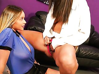 Two Female Neighbors Love To Spend Time While Taunting Each...