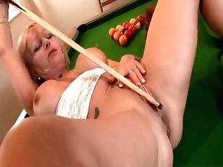 Brit Granny Plays With Her Pierced Twat